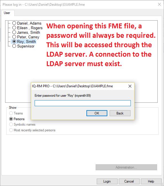 LDAP Server setup | User login | Instructions | APIS IQ Software