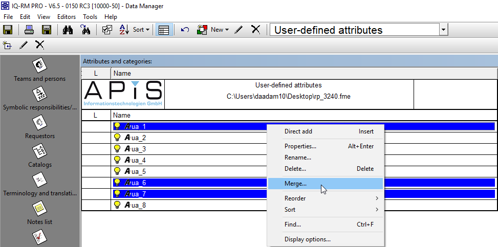 Merge user-defined attributes (RP-3240)