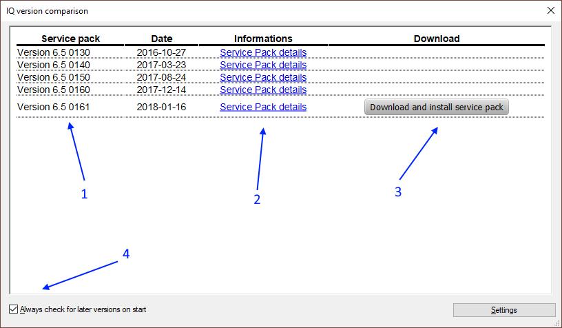 APIS IQ-Software | Service Packs | Mailing List | Updates