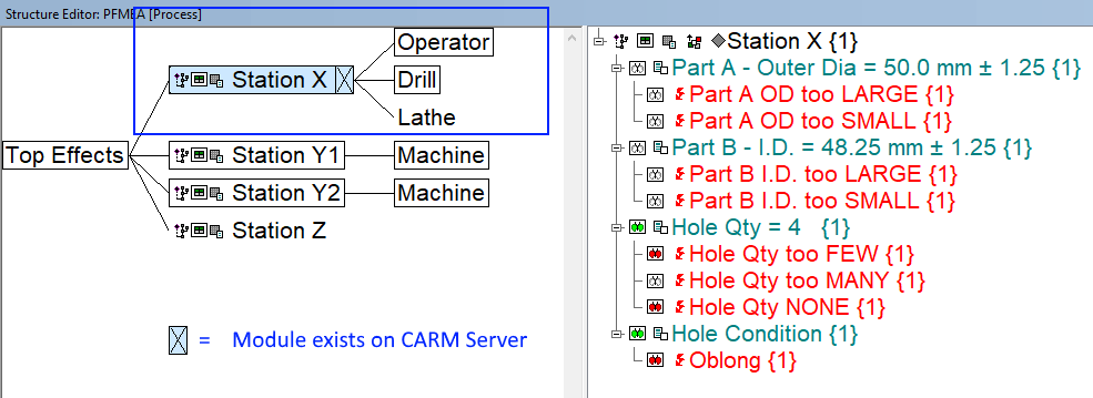 module exists on CARM Server