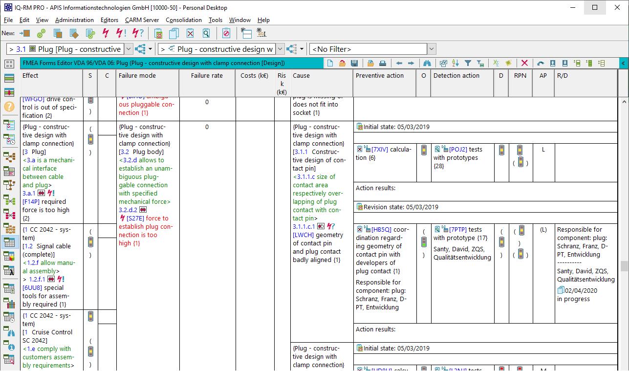 Compare APIS Software | IQ-FMEA | IQ-FMEA PRO | IQ-RM