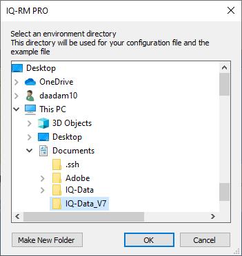 choose separate directory