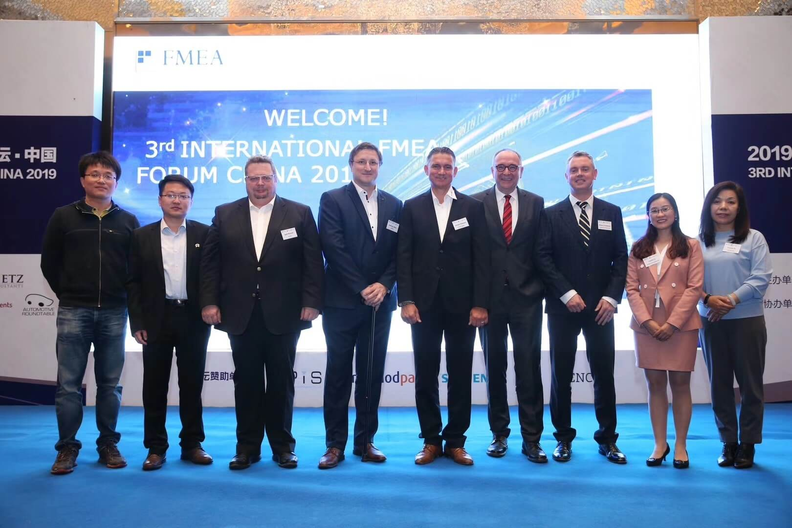 Speakers at the 3rd International FMEA Forum China 2019