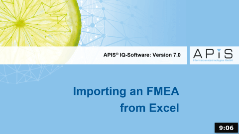 Importing an FMEA from Excel