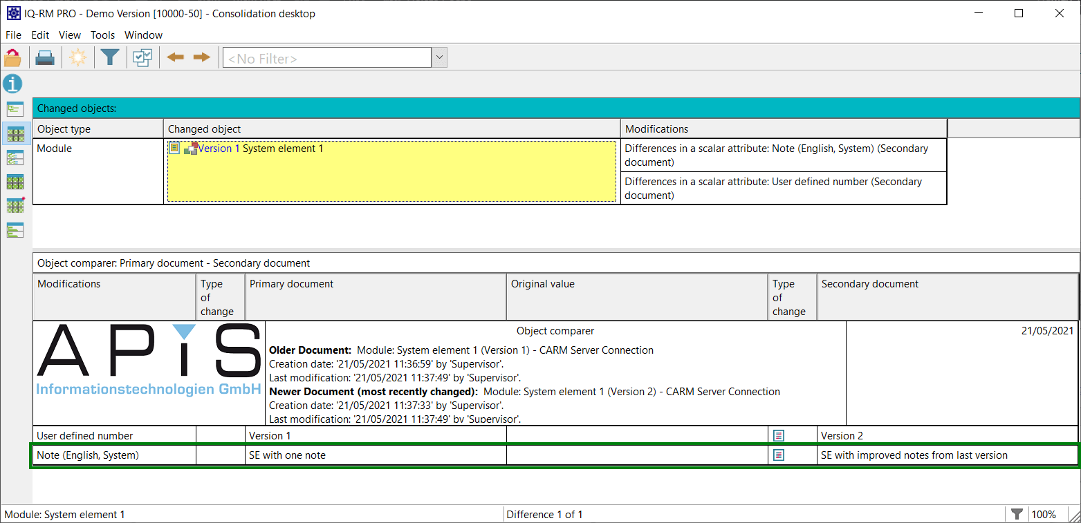 V7-5267 notes now can be compared